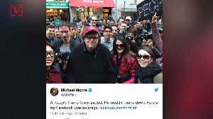 News video: Report: Filmmaker Michael Moore Participated in Anti-Trump Rally Organized by Russians