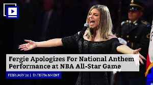 News video: Fergie Apologizes For National Anthem Performance at NBA All-Star Game