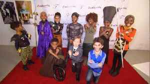 News video: Kids Stage Photo Shoot Inspired by 'Black Panther' Movie