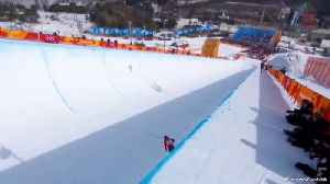 News video: Olympic Halfpipe Skier Finishes Run Without Any Tricks