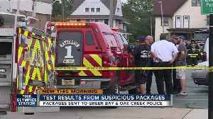 News video: FBI releases test results from suspicious package investigation at Green Bay, Oak Creek Police Depts