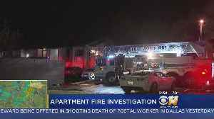 News video: Fort Worth Firefighters Investigating If Lightning Caused Apartment Fire