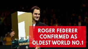 News video: Roger Federer becomes oldest world no.1 in history