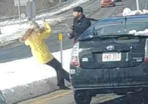 News video: Man Pushes Woman to the Ground in Alleged Road Rage Incident in New Hampshire