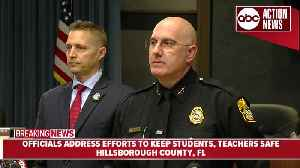 News video: Hillsborough Co. officials address efforts to keep students, teachers safe