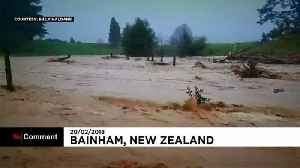 News video: Former Cyclone Gita hits New Zealand, bringing floods and high winds