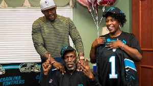 News video: Newlyweds Obsessed With NFL Team Get Surprised By Panthers Player At Hospice