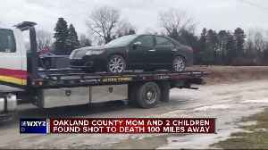 News video: Oakland County Mom and 2 children found shot to death 100 miles away