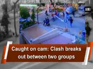 News video: Caught on cam: Clash breaks out between two groups