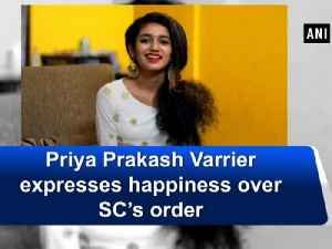 News video: Priya Prakash Varrier expresses happiness over SC's order