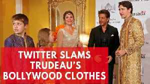 News video: Twitter Mocks Justin Trudeau's Bollywood Outfits During Trip To India
