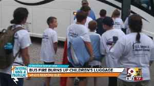 News video: Bus fires burns up children's luggage