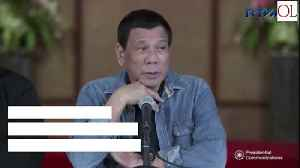 News video: Philippines Alarmed By Us Intel's Characterization Of Duterte
