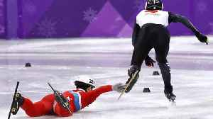 News video: North Korean Skater Intentionally TRIPS Opponent After Falling to the Ice Like a Whole Ass B*tch