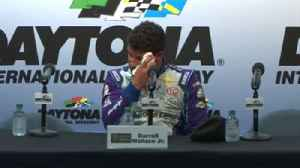 News video: Bubba Wallace overwhelmed with emotion after making NASCAR history
