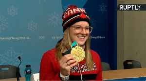 News video: Canadian Halfpipe Champ Cassie Sharpe Hails 'Awesome Feeling' After Gold