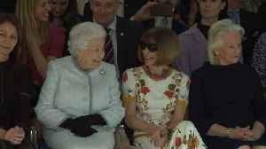 News video: Queen Elizabeth makes surprise appearance at London fashion catwalk