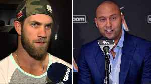 News video: Bryce Harper PISSES OFF Marlins Manager for Criticizing Derek Jeter's Trade Decisions