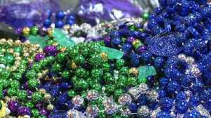 News video: New Orleans Residents Donate Mardi Gras Beads for a Good Cause