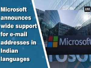 News video: Microsoft announces wide support for e-mail addresses in Indian languages