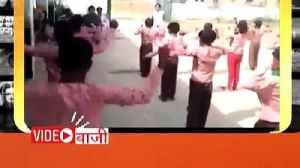 News video: Students of primary school doing PT in whole discipline in Kanpur