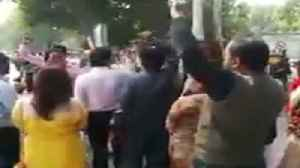 News video: AAP Workers Protest Outside Home Minister Residence