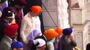 News video: Trudeau offers prayers at India's Golden Temple