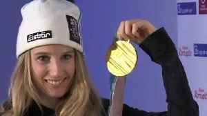"""News video: Austria's Gasser says her gold being first ever Olympic big air gold medal is a """"bonus"""""""
