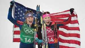 News video: Team USA's Only Mother, Kikkan Randall, Wins Gold in Cross Country Skiing