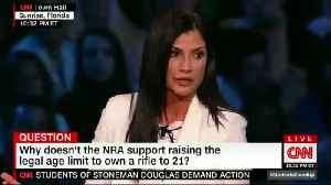 News video: NRA's Dana Loesch Brutally Mocked During CNN Town Hall When She References Pro-Gun Rape Survivor