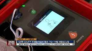News video: Off-duty firefighter saves man in cardiac arrest at Tarpon Springs Publix