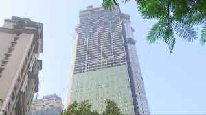News video: Trump Jr. attends topping-out ceremony of family's luxury condos in Mumbai