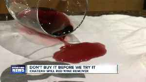 News video: Don't Buy It Before We Try It: Red Wine Stain Remover