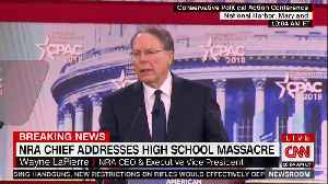 NRA Chief Blames Florida Shooting on FBI, Poor School Security and Failure of Mental Health System