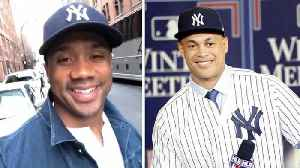 News video: Russell Wilson JOINS the Yankees, Calls Out Giancarlo Stanton and Aaron Judge
