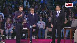 News video: Stoneman Douglas Student Asks Rubio If He Will Reject NRA Donations