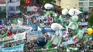 News video: Argentina's unions stage mass protest against austerity