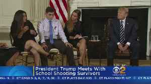 News video: President Trump Meets With School Shooting Survivors