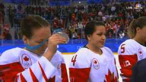 News video: Salty Canadian Women's Hockey Player Rips Off Her Silver Medal During Ceremony