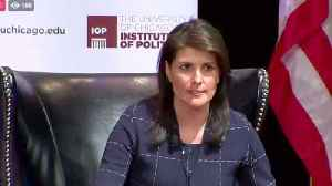 News video: Nikki Haley jokes about Trump's use of 'little rocket man'