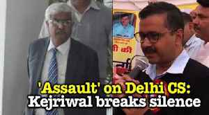 "News video: 'Assault' on Delhi CS: Police ""raids"" Kejriwal's residence, CM reacts"