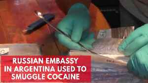 News video: Attempt to traffic $61.5 million of cocaine via Russian embassy in Argentina foiled