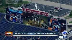 News video: Denver Broncos do away with paper tickets for 2018 season