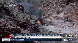 News video: UPDATE: Fourth person dies after Grand Canyon helicopter crash
