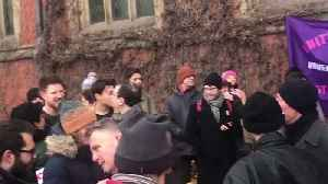 News video: Students Gather in Support of Strikers at Sheffield University