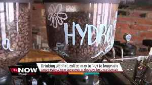 News video: Study: Drinking alcohol, coffee may help you live longer