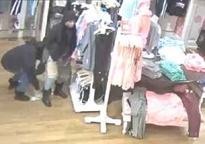 News video: Shoplifting Suspects Stuff Clothes Between Legs Before Waddling Out of Massachusetts Store