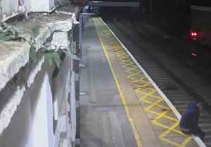 News video: Drunk Man 'Lucky to Be Alive' After Lying Down in Path of Oncoming Train