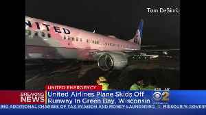 News video: United Flight Slides Off Runway In Green Bay
