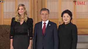 News video: South Korea Rolls Out the Red Carpet for Ivanka Trump as She Arrives for Olympics Closing